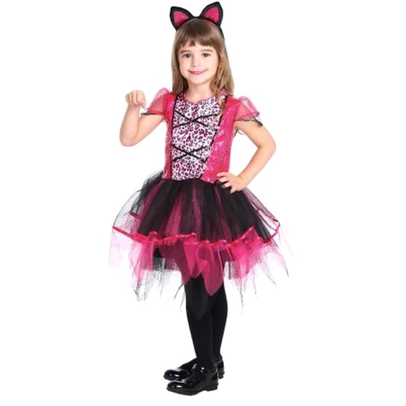 sassy cat girls 2pc halloween costume size m